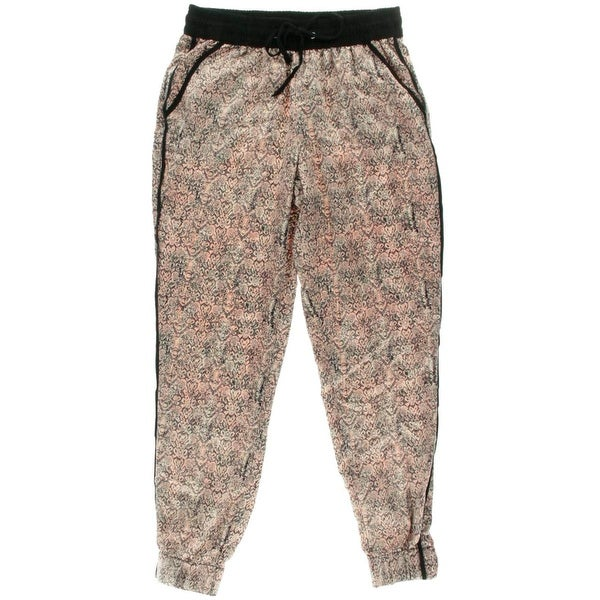 Rewash Womens Juniors Casual Pants Flat Front Printed