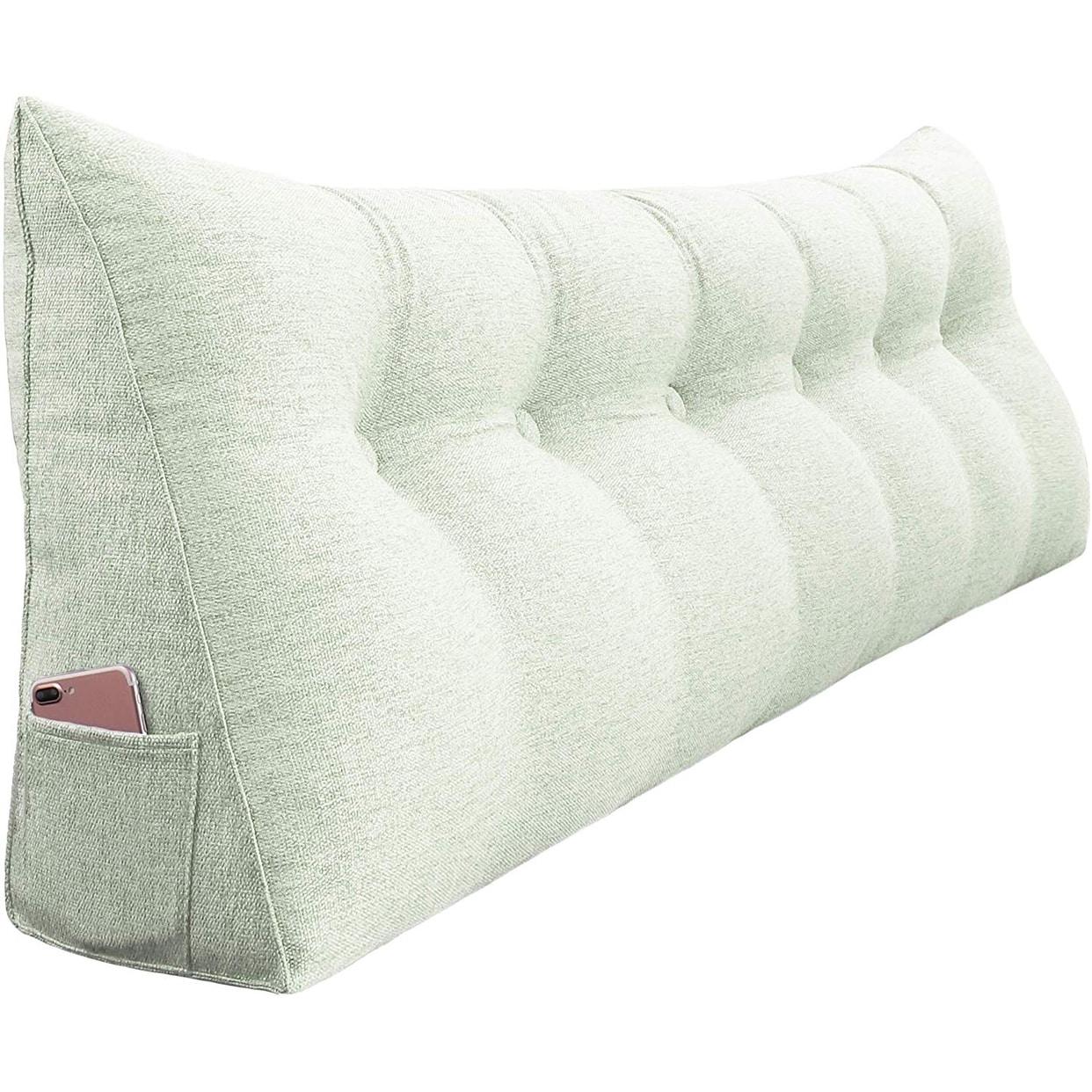 Wowmax Bed Wedge Bolster Pillow Headboard Backrest Daybed Support Off White California King Overstock 30684393