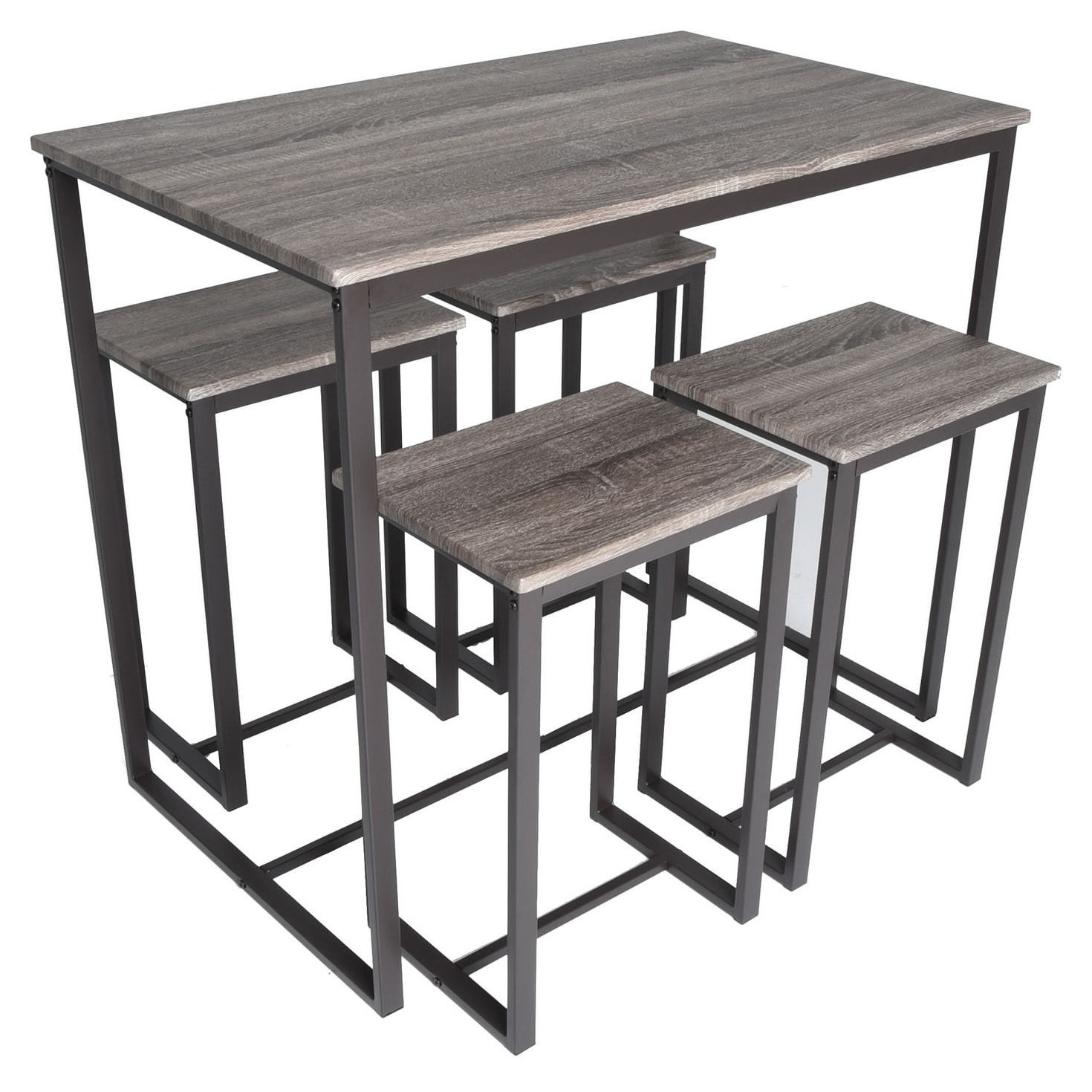 Magnificent Zenvida 5 Piece Bistro Pub Table Set With 4 Stools Onthecornerstone Fun Painted Chair Ideas Images Onthecornerstoneorg