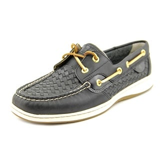 Sperry Top Sider Bluefish Woven Moc Toe Leather Boat Shoe