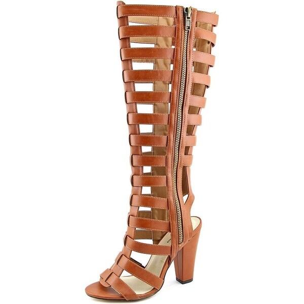 Michael Antonio Kimiko Women Open Toe Synthetic Brown Gladiator Sandal