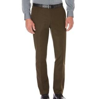 Perry Ellis NEW Green Mens Size 29X30 Slim Fit Flat Front Dress Pants