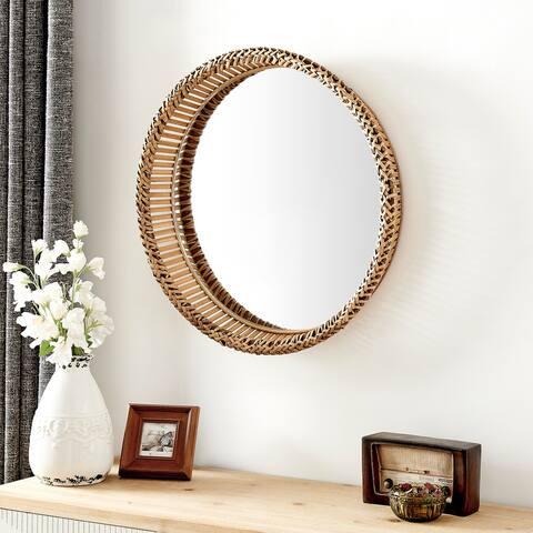 FirsTime & Co. Natural Waverly Rattan Mirror, Rattan