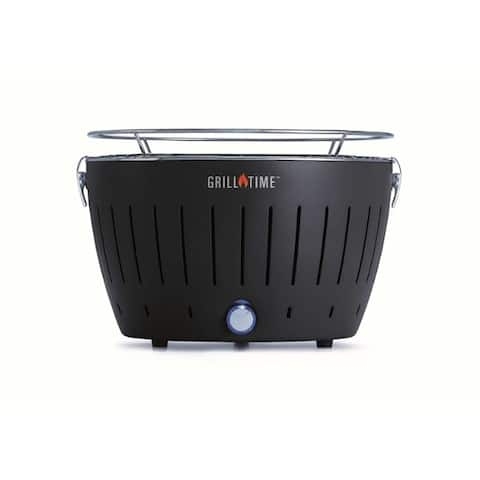 Grill Time 16 in. Tailgater GTX Charcoal Grill Gray - 18.3 x 18.6 x 11.6