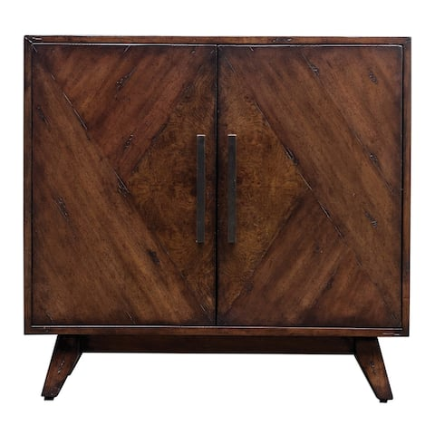 "Uttermost 25835 Liri 36"" Wide Mango Wood Cabinet with Adjustable - Deep Mahogany"