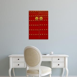 Easy Art Prints Walter Bibikow's 'Beijing Red Gates' Premium Canvas Art