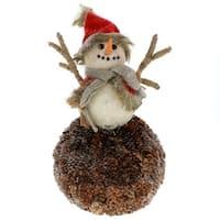 Pinecone Glisten Snowman
