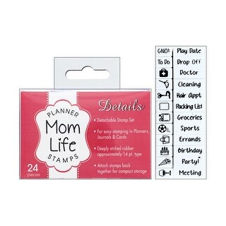 Contact USA Planner Details Stamp Set Mom Life24pc