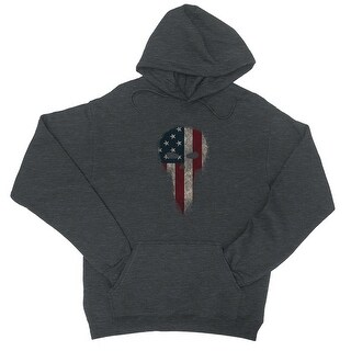 Vintage American Skull Unisex Cool Grey Pullover Hoodie (More options available)