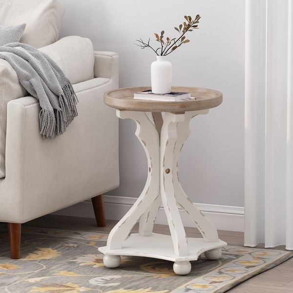 Callao French Country Accent Table with Round Top by Christopher Knight Home. Opens flyout.