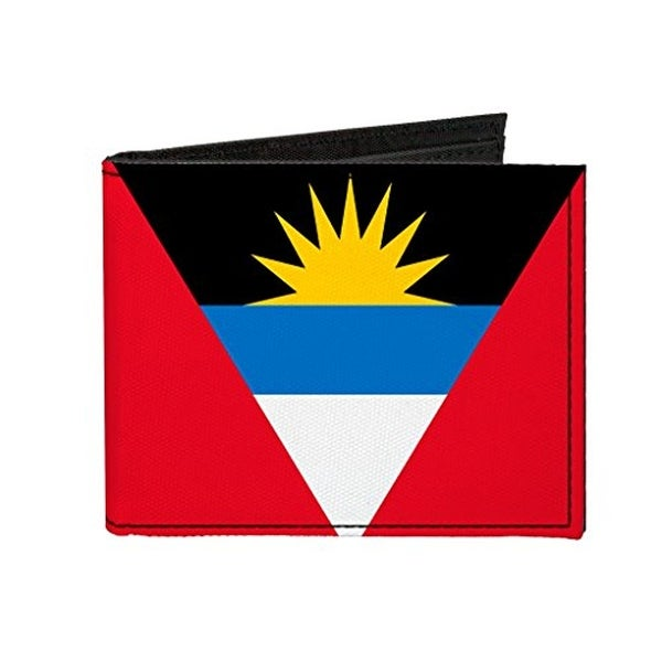 Buckle-Down Canvas Bi-fold Wallet - Antigua and Barbuda Flag Accessory