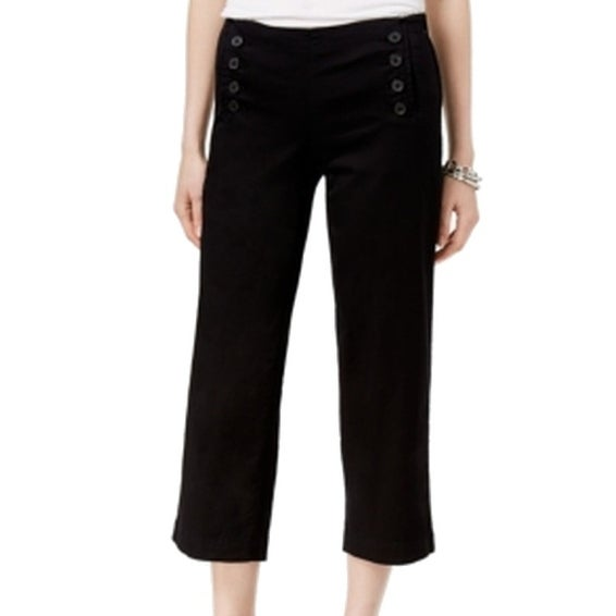 Tommy Hilfiger NEW Black Women's Size 16X24 Capris Cropped Pants