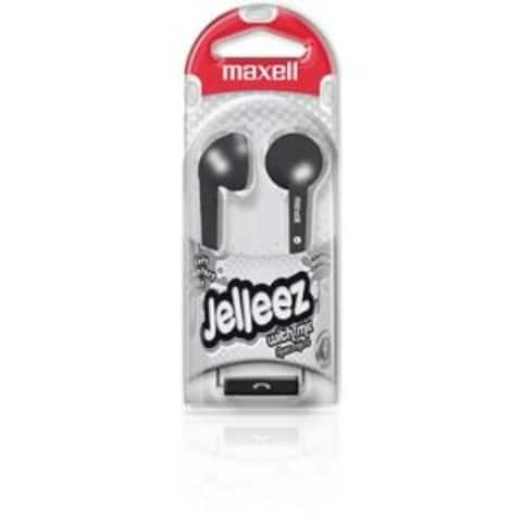 Maxell Earbuds, 191569, JELM-BK, Jelleez EB Black W/Microphone
