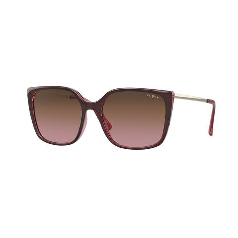 Vogue VO5353S 287314 54 Top Red On Transparent Pink Woman Square Sunglasses