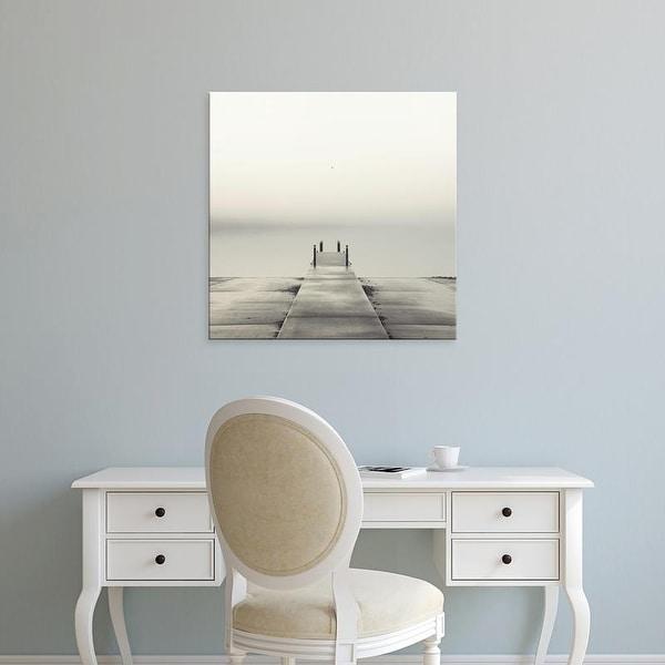 Easy Art Prints Nicholas Bell's 'Pier and Seagull' Premium Canvas Art