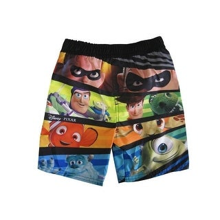 Disney Little Boys Multi Color Cartoon Inspired Swimwear Shorts