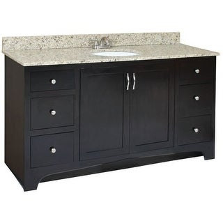 """Design House 541433 Ventura 60"""" Wood Vanity Cabinet Only with Four Drawers"""