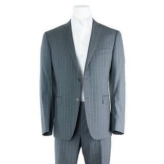 Versace Men's Gray Striped 100% Wool Two Button Suit|https://ak1.ostkcdn.com/images/products/is/images/direct/a4a06f5c5ccdcd38d5500cd0c32a3b96701f57ba/Versace-Men%27s-Gray-Striped-100%25-Wool-Two-Button-Suit%C2%A0.jpg?impolicy=medium