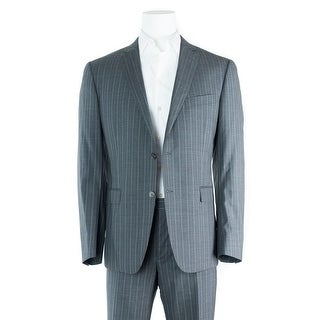 Versace Men's Gray Striped 100% Wool Two Button Suit