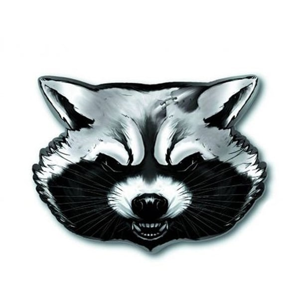 Marvel's Guardians of the Galaxy Pewter Pin: Rocket Racoon (Head) - Silver
