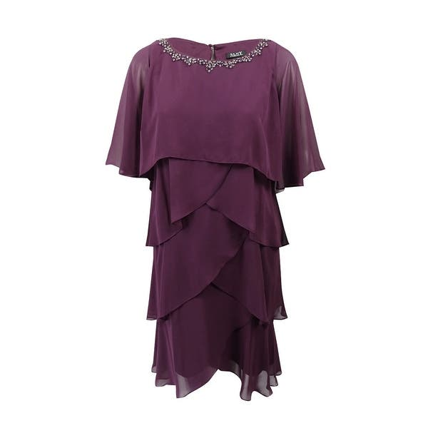 Shop SL Fashions Women\'s Plus Size Embellished Tiered ...