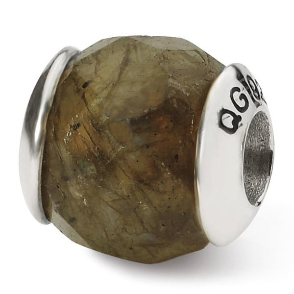 Sterling Silver Reflections Labradorite Stone Bead (4mm Diameter Hole)
