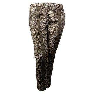 MICHAEL Michael Kors Women's Snake Print Skinny Pants (14, Duffle) - 14