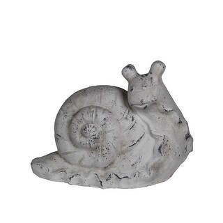 Privilege 66947 13 x 7 x 11.5 in. Ceramic Snail Statue, White