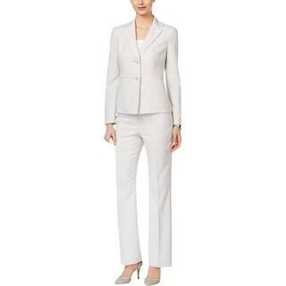 Le Suit Womens Pant Suit 2PC Two Button