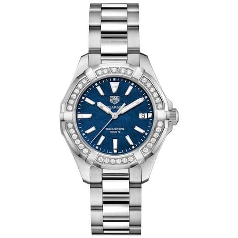 Tag Heuer Women's WAY131N.BA0748 'Aquaracer' Diamond Stainless Steel Watch - Blue