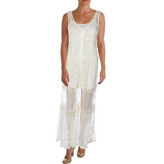 Band of Gypsies Womens Sundress Crochet Embroidered - S