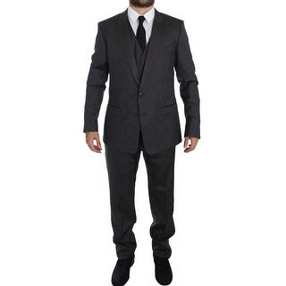 Dolce & Gabbana Gray MARTINI 3 Piece Slim Fit Suit Tuxedo