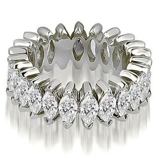 2.88 ct.tw 14K White Gold Marquise Diamond Eternity Ring