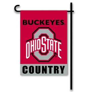 Bsi Products Inc Ohio State Buckeyes 2-Sided Country Garden Flag Garden Flag