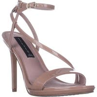 STEVEN Steve Madden Rees Ankle Strap Dress Sandals, Nude Patent