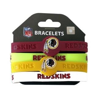 Washington Redskins NFL Silicone Rubber Wrist Band Bracelet Set of 4