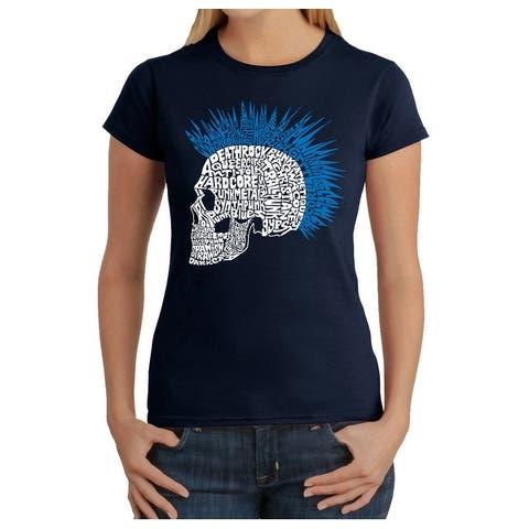 Women's Word Art T-Shirt - Punk Mohawk