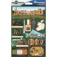 Ireland - Jet Setters Dimensional Stickers