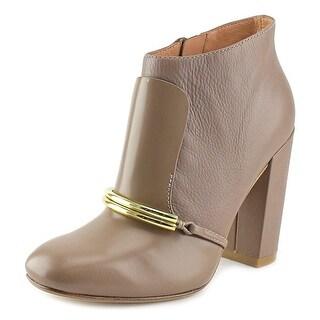 Sigerson Morrison Tutu Women Square Toe Leather Brown Bootie