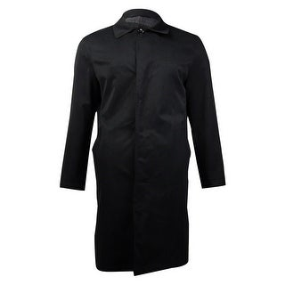 London Fog Men's Durham Raincoat (Black, 40S) - Black