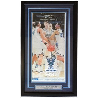 Villanova Wildcats Framed Apr 3 2018 National Champions Inquirer Page