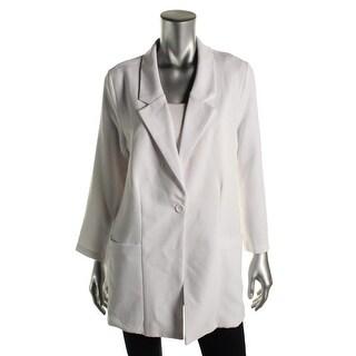 Trouve Womens 3/4 Sleeve Single Vent Casual Blazer - M