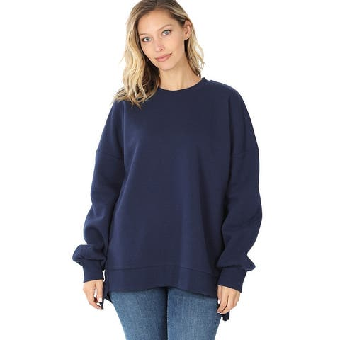 JED Women's High-Low Relaxed Fit Thick Pullover Sweatshirts