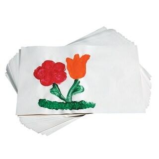 School Smart Finger Paint Paper, 60 lb, 11 x 16 Inches, White, 100 Sheets