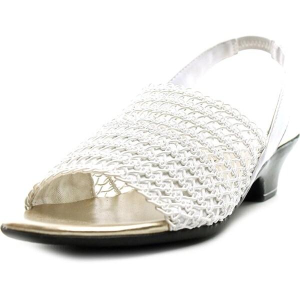 Karen Scott Elmann Open-Toe Canvas Slingback Sandal