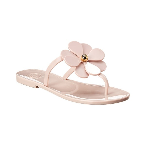 Shop Tory Burch Flower Jelly Thong Sandal Free Shipping