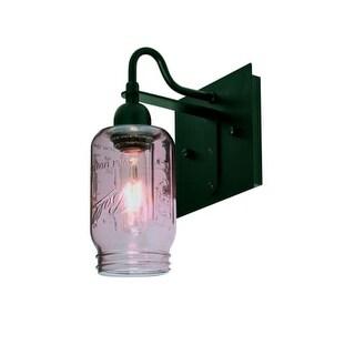 Besa Lighting 1WG-MILO4PL Milo Single Light Wall Sconce with Purple Glass Jar Shade