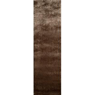 """Momeni Luster Shag Light Taupe Hand-Tufted Shag Runner Rug (2'3 X 8') - 2'3"""" x 8' Runner"""