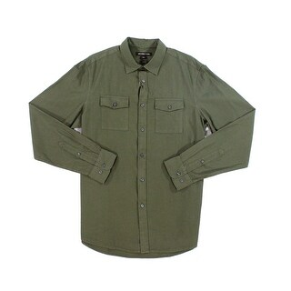 Michael Kors NEW Olive Green Mens Size Large L Button Down Shirt