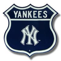 Authentic Street Signs 33002 Yankees New York Logo Route Street Sign